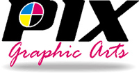 Pix Graphic Arts - logo designed by J.David Lopez